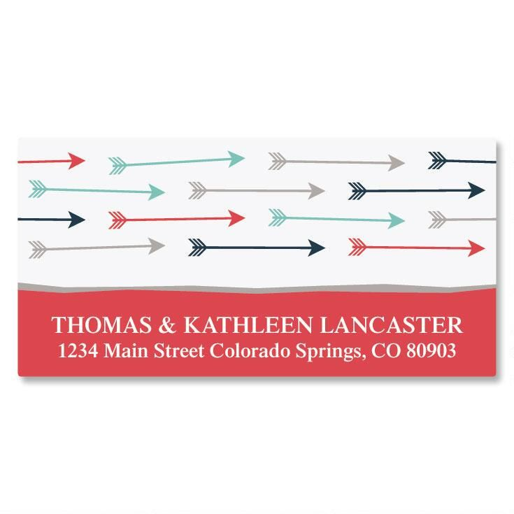 Arrows Deluxe Return Address Labels