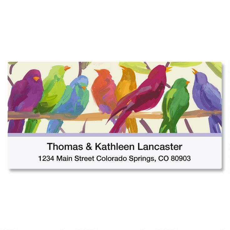 Flocked Together Deluxe Return Address Labels