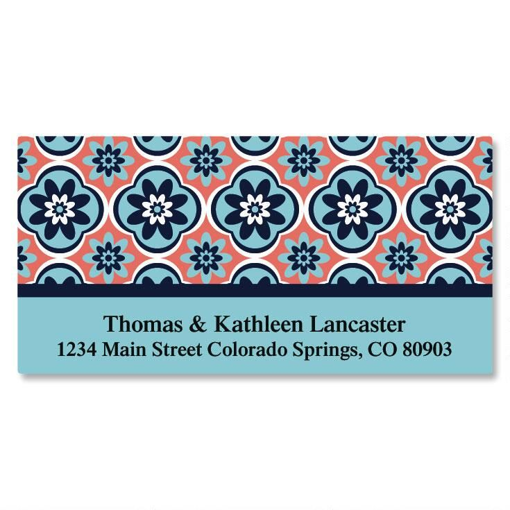 Mosaic Deluxe Return Address Labels