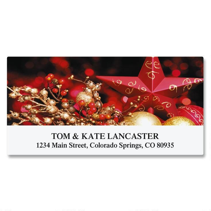 Gilded Star Deluxe Address Labels