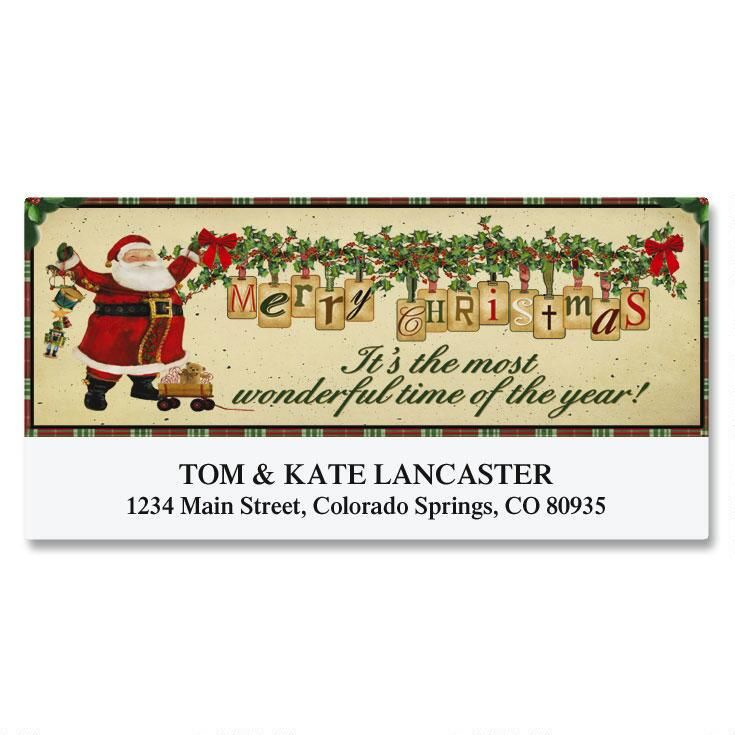 Vintage Santa Deluxe Address Labels