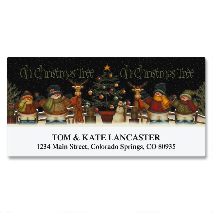 Snowmen Celebration Deluxe Return Address Labels