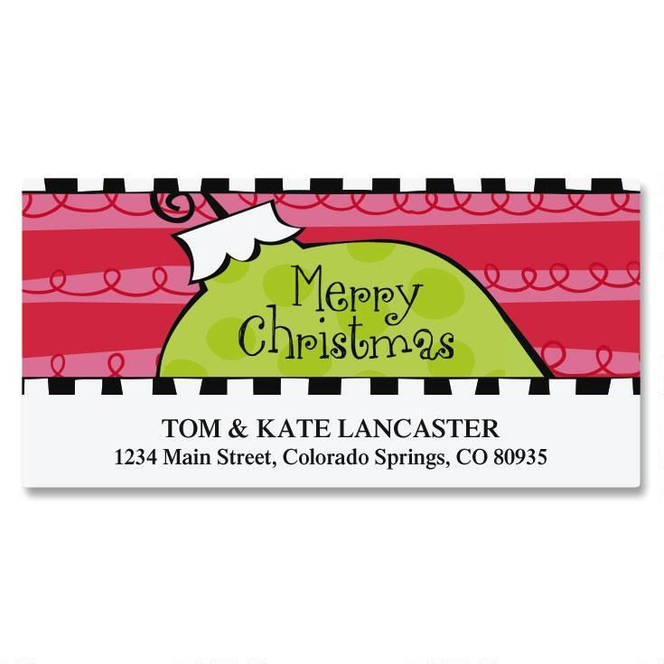 Merry Modern Deluxe Address Labels