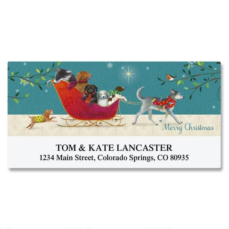 Sleigh Ride Deluxe Address Labels