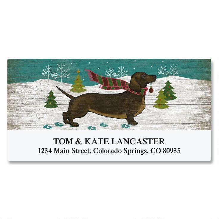 Dapper Dachshund Deluxe Return Address Labels