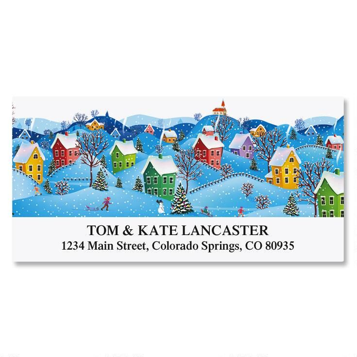 Snow Village Deluxe Return Address Labels