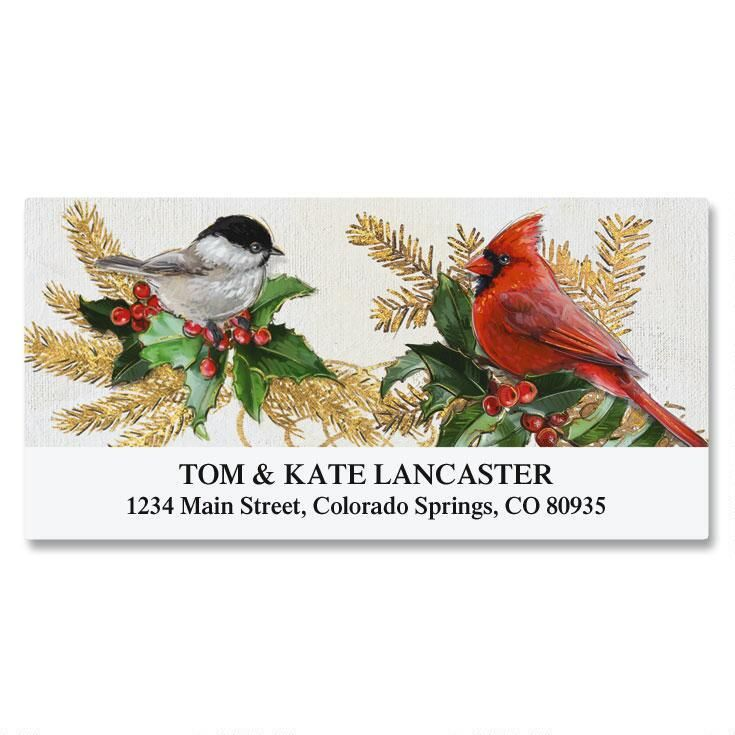 Birds and Boughs Deluxe Return Address Labels