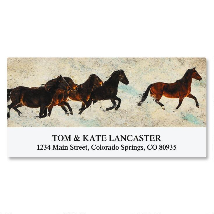 Morgan Horses Deluxe Return Address Labels