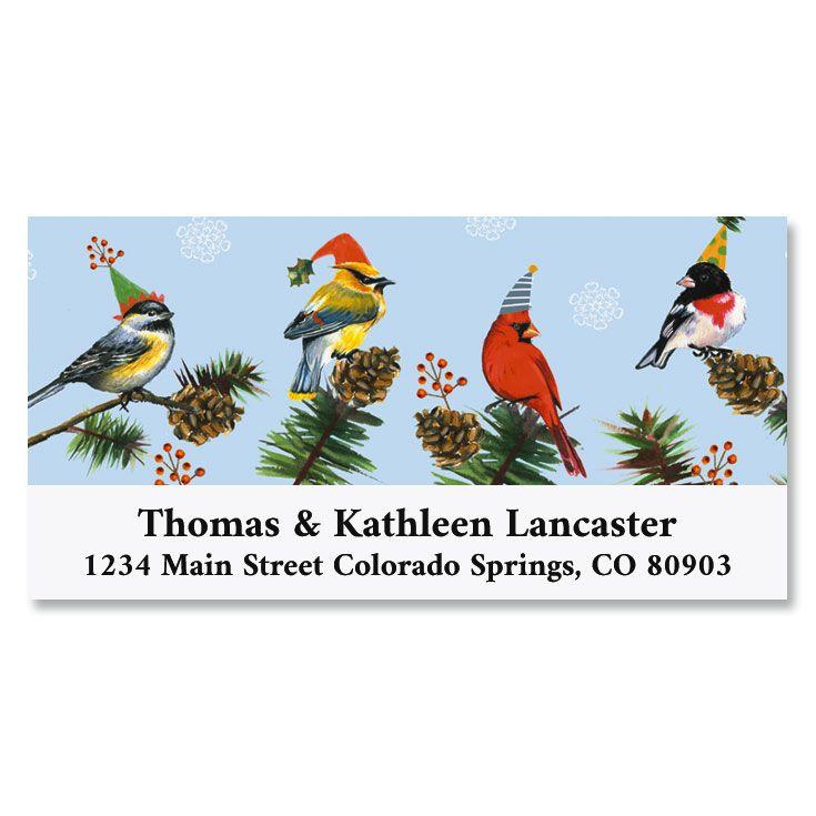 Merry Birds Deluxe Return Address Labels