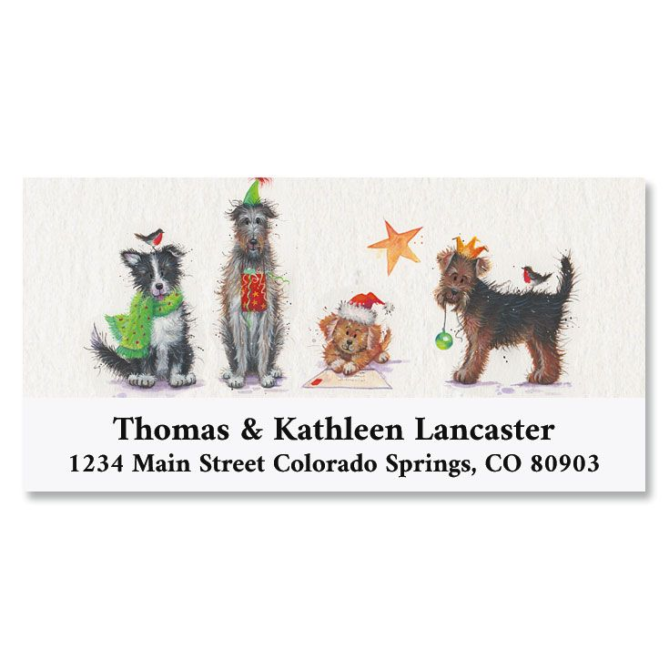 Santa Paws Deluxe Return Address Labels