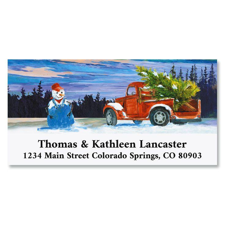 Christmas Farmer Deluxe Return Address Labels