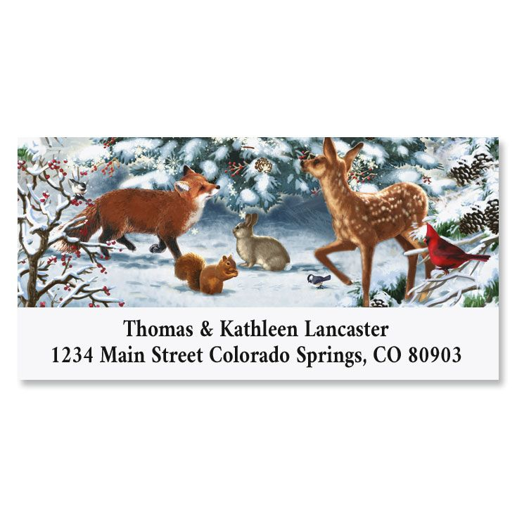 Nature's Celebration Deluxe Christmas Address Labels