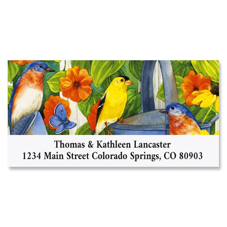 Picket Fence Perchers Deluxe Return Address Labels