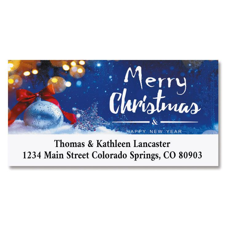 Snow Christmas Deluxe Return Address Labels