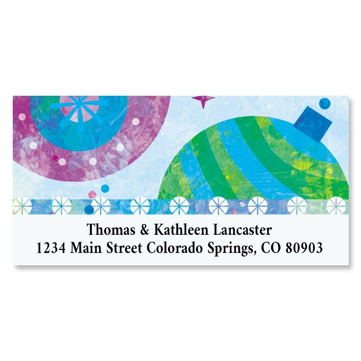 Graphic Ornaments Deluxe Return Address Labels