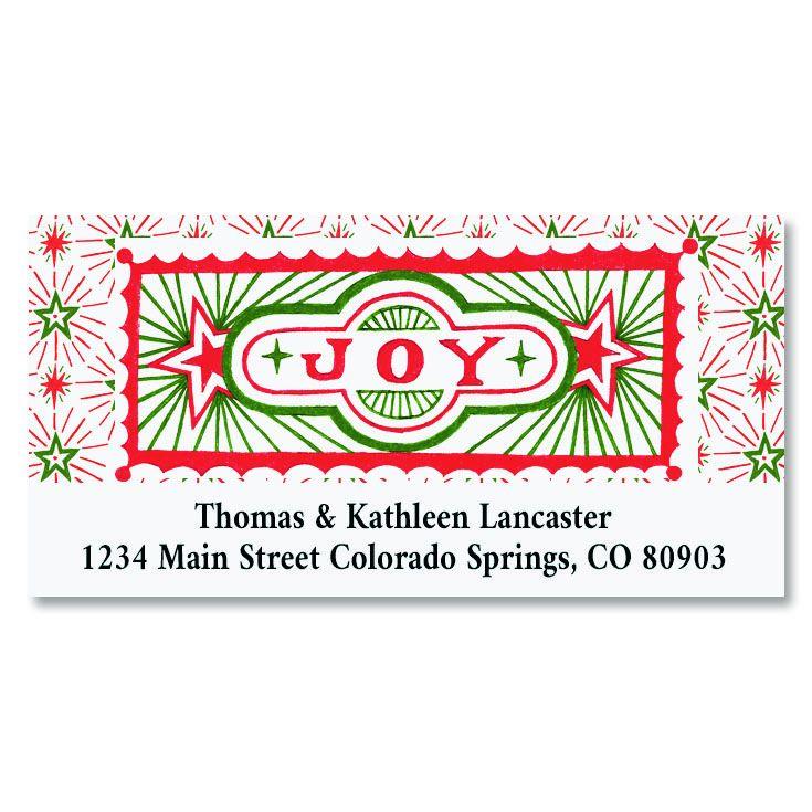 Joyous Christmas Deluxe Return Address Labels