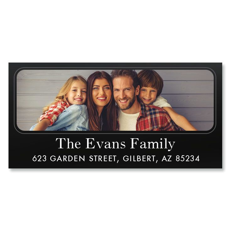 Modern Deluxe Photo Return Address Label