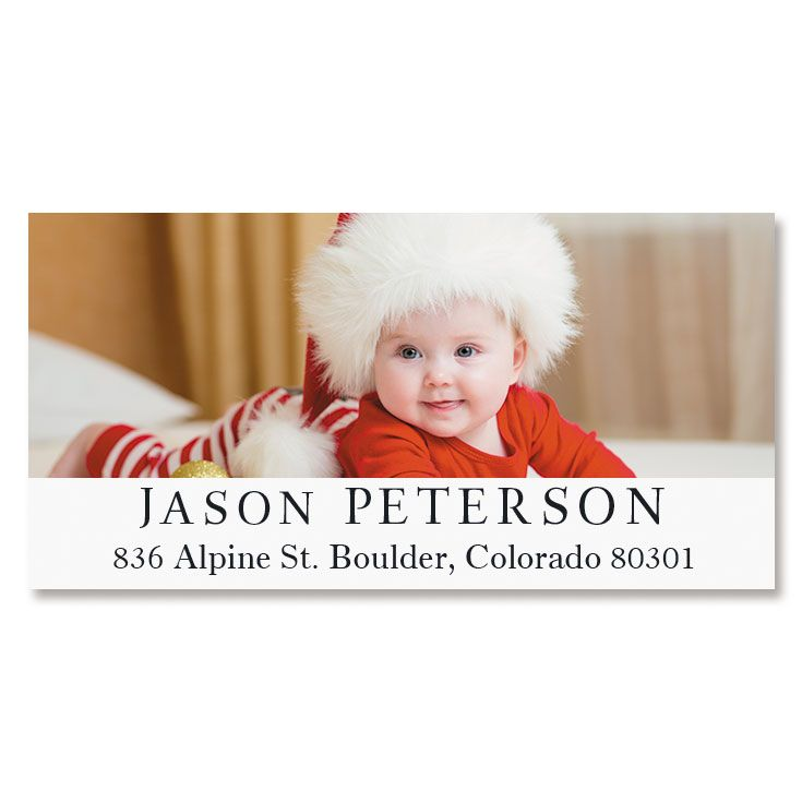 Classic Deluxe Photo Return Address Label