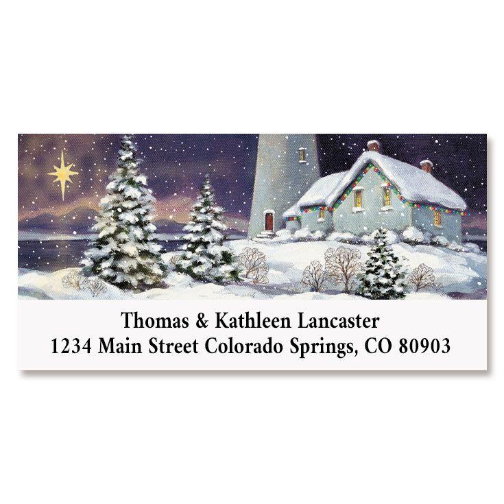 December Light Deluxe Return Address Labels