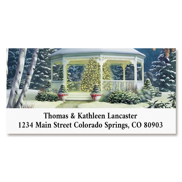 Shining Brightly Deluxe Return Address Labels