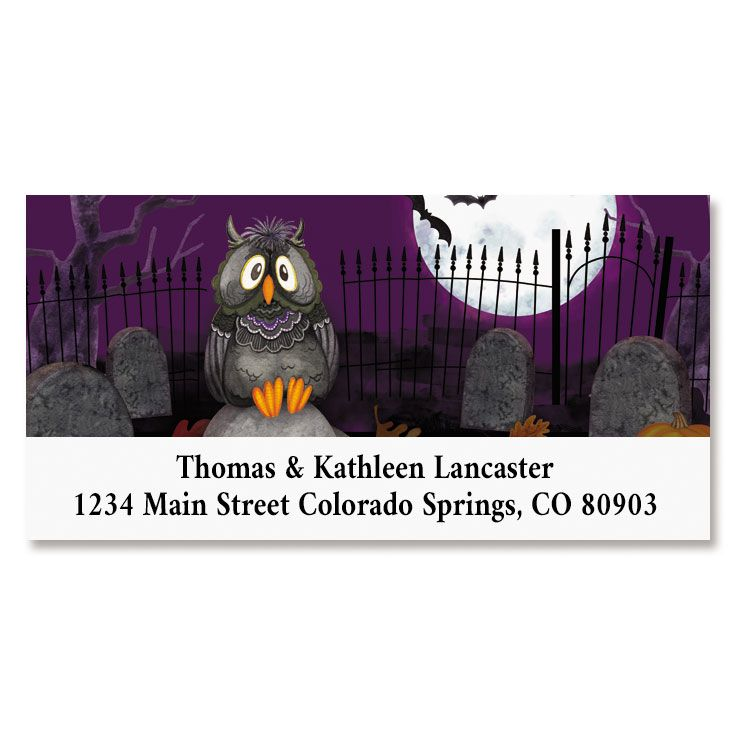 Happy Haunting Deluxe Return Address Labels