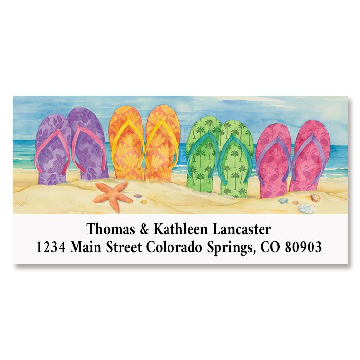 Toes in the Sand Deluxe Return Address Labels
