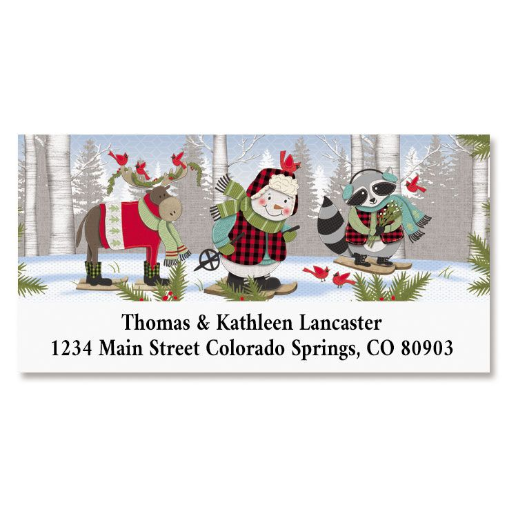 Forest Friends Deluxe Return Address Labels