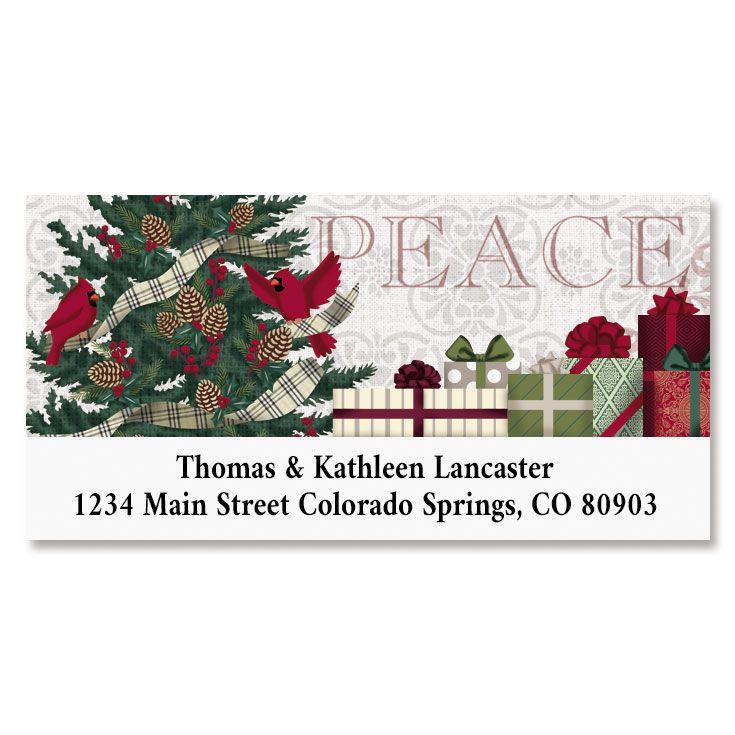 Warmest Wishes Deluxe Return Address Labels
