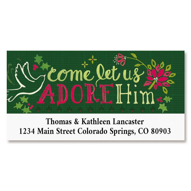 Adore Him Deluxe Return Address Labels