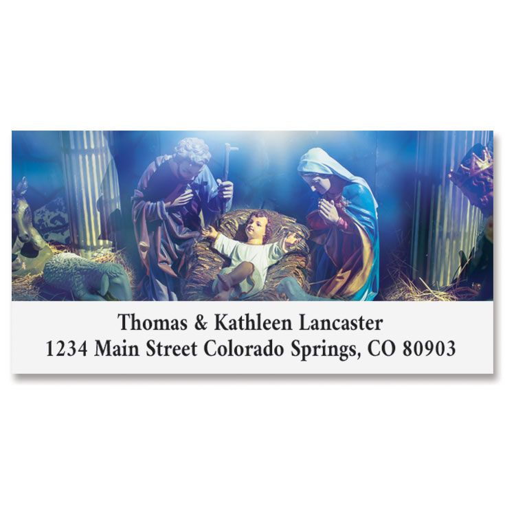 Blessed Nativity Deluxe Return Address Labels