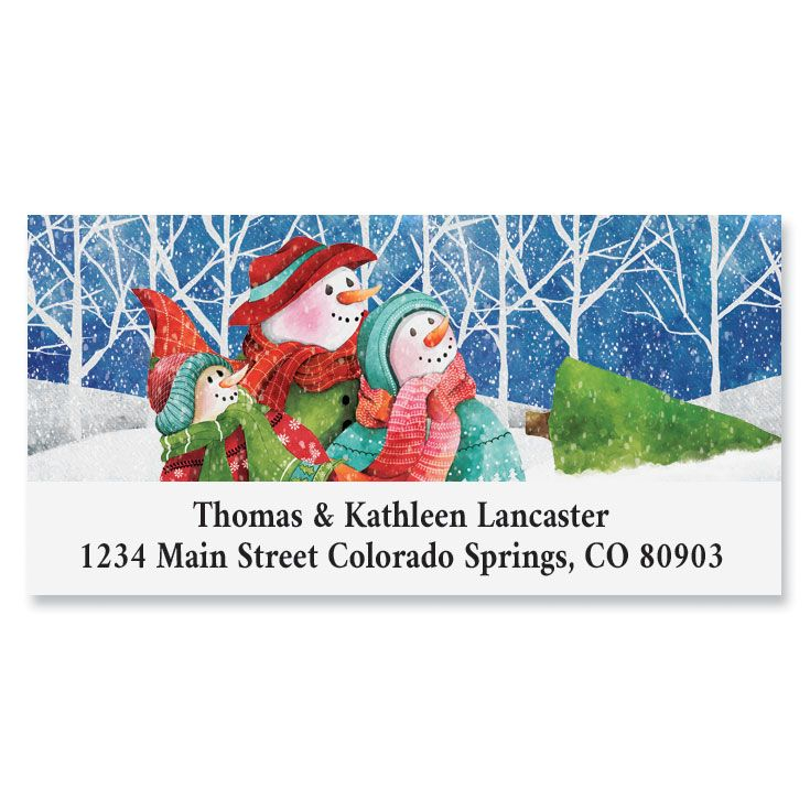 Winter Pals Deluxe Return Address Labels