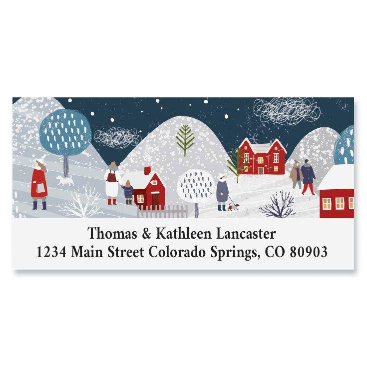 Winter Village Deluxe Return Address Label