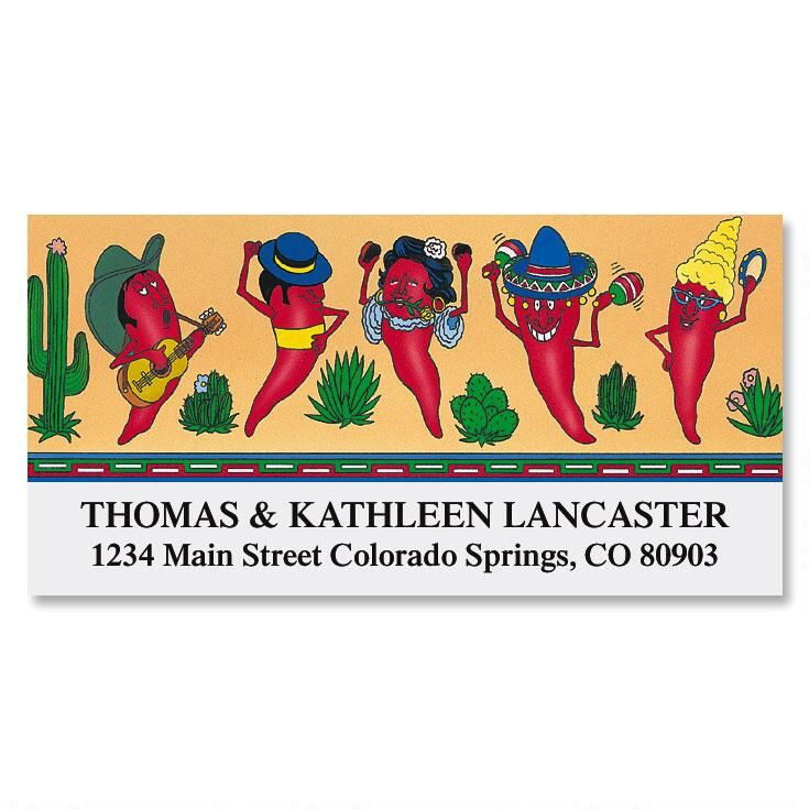 Silly Chilies Deluxe Address Labels