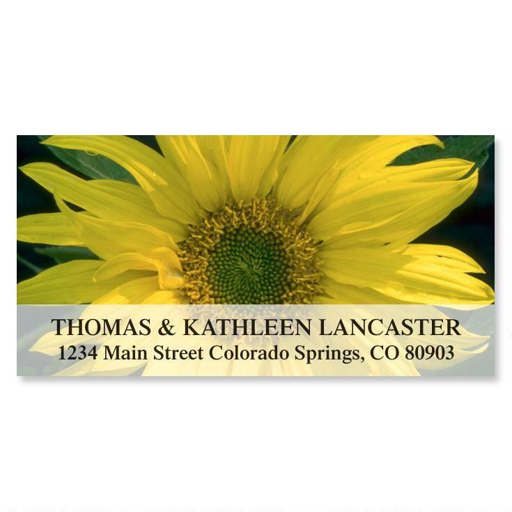 Sunflower Sunshine Deluxe Return Address Labels
