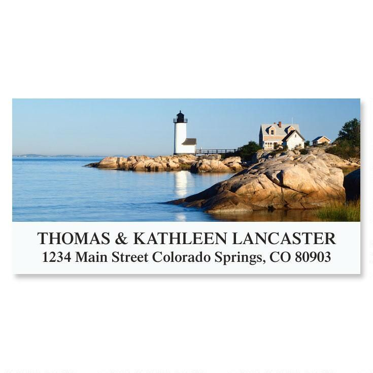 Annisquam Harbor Lighthouse  Deluxe Return Address Labels