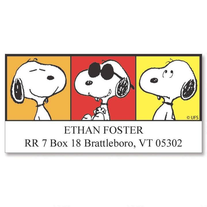SNOOPY® Portraits  Deluxe Return Address Labels