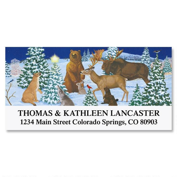 Peaceful Forest Deluxe Return Address Labels