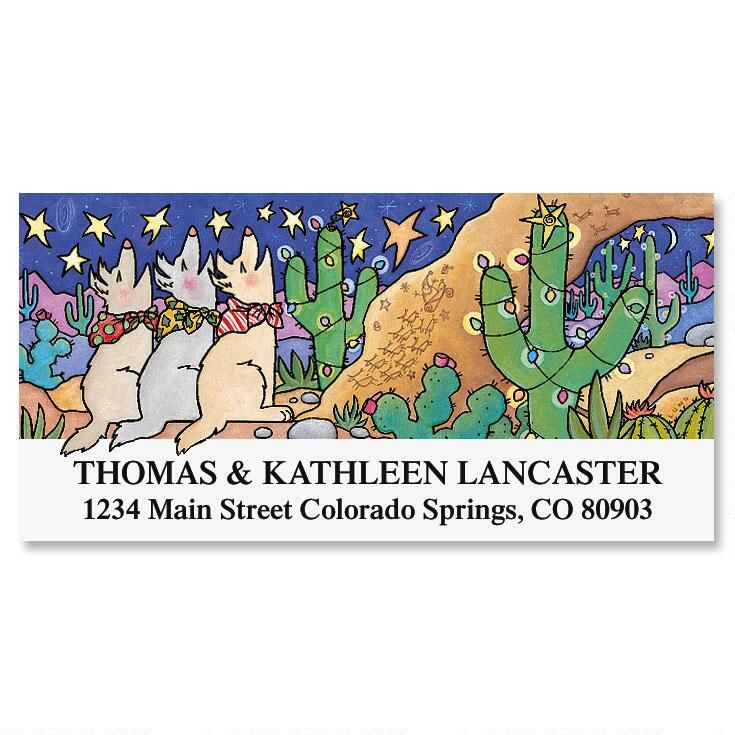 Howliday Wishes  Deluxe Return Address Label