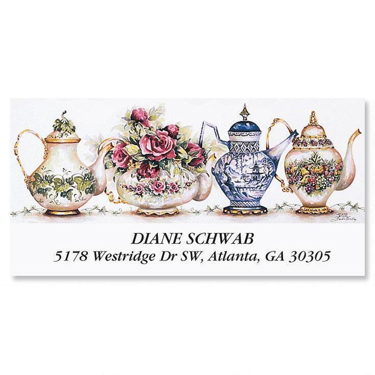 Teapots  Deluxe Return Address Labels