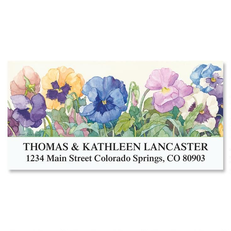 Sandi's Pansies  Deluxe Address Labels