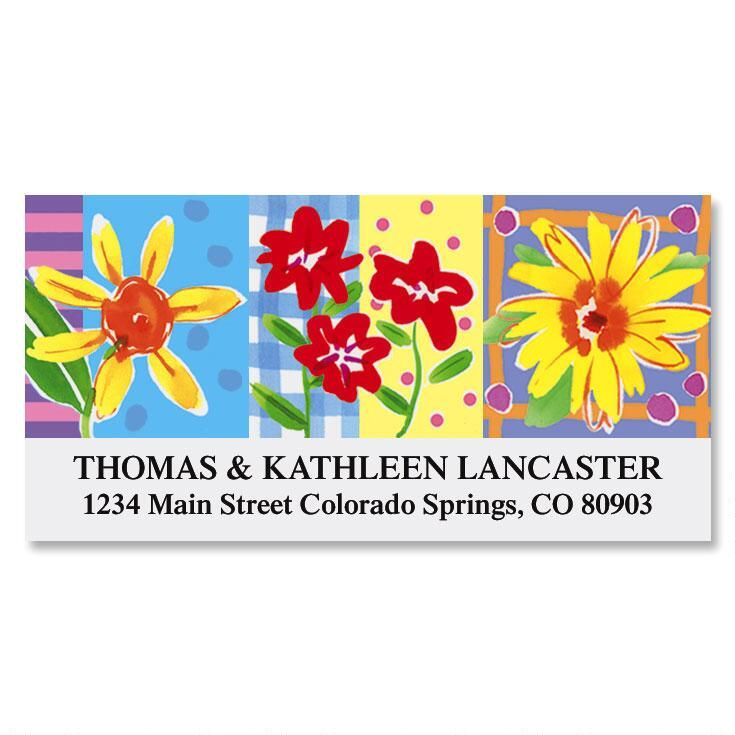 Painted Petals Deluxe Return Address Labels