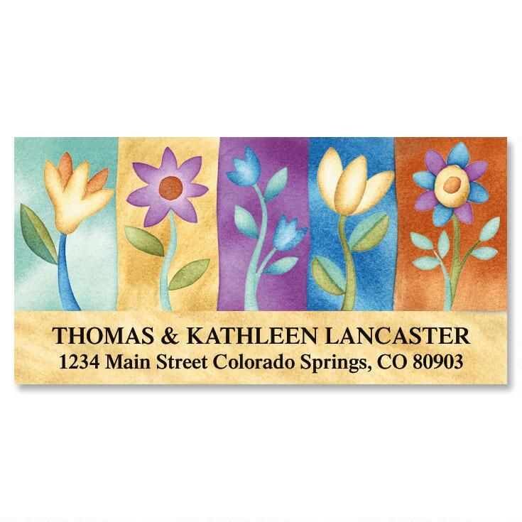 Blossoms Deluxe Return Address Labels