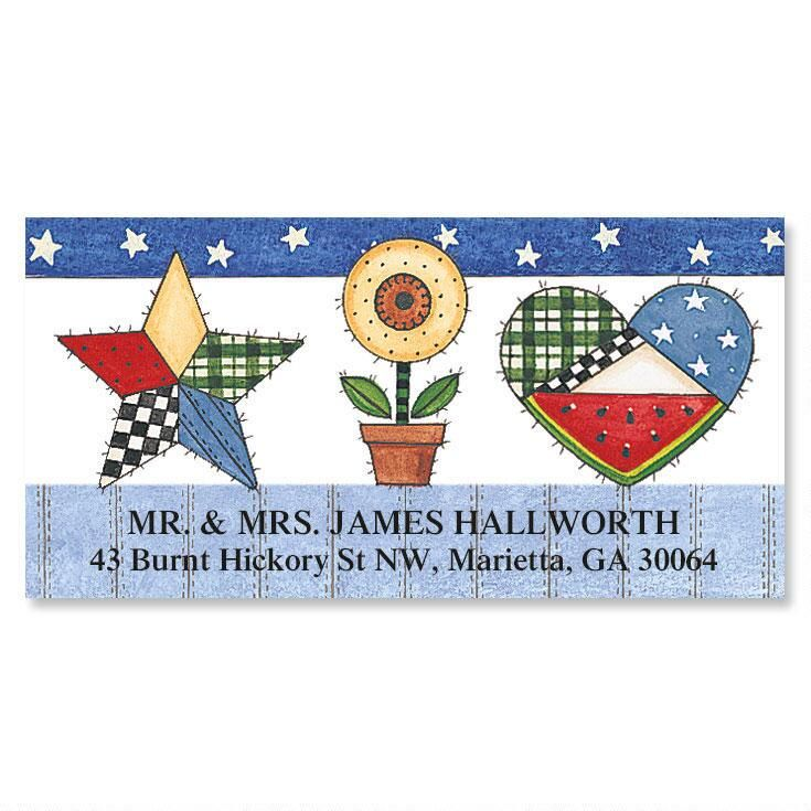 Sandi's Patchwork Pride  Deluxe Return Address Labels