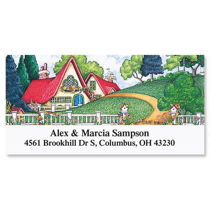 Cottage  Deluxe Return Address Labels