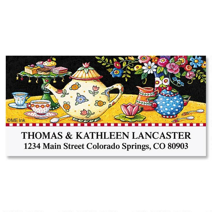 Teatime Treats Deluxe Return Address Labels