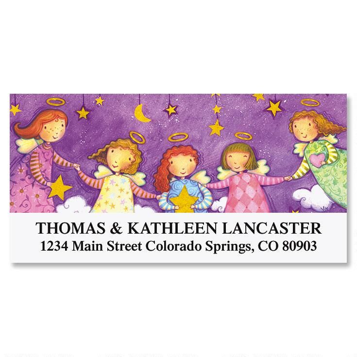 Angel Girlfriends Deluxe Return Address Labels