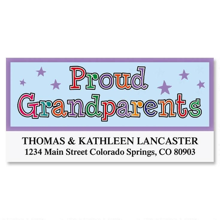 Proud Grandparents Deluxe Return Address Labels