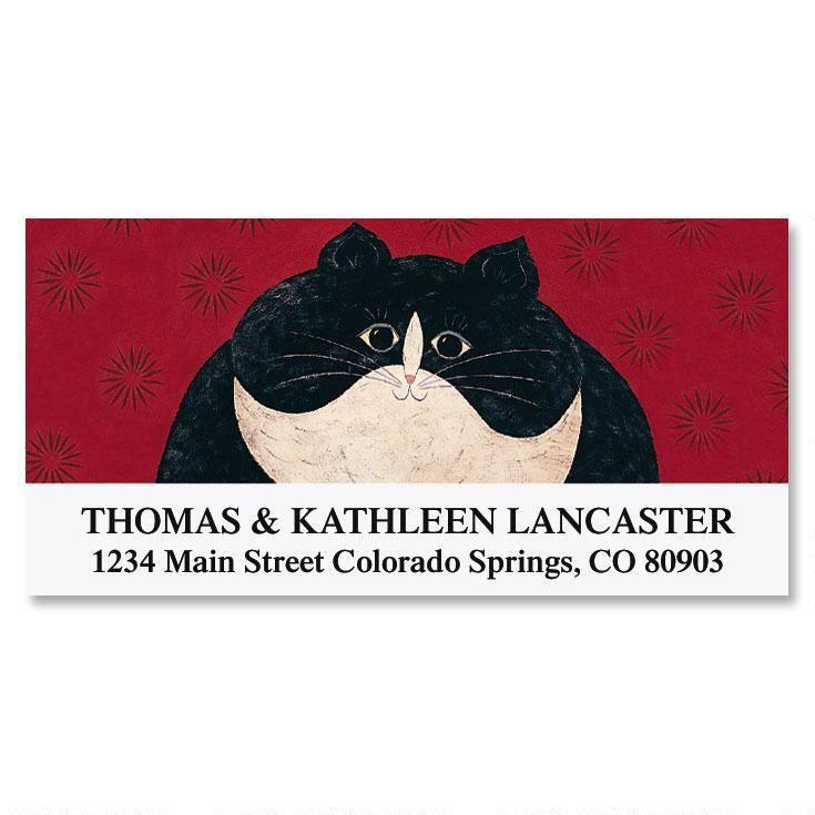 Kitty Deluxe Address Labels by Warren Kimble