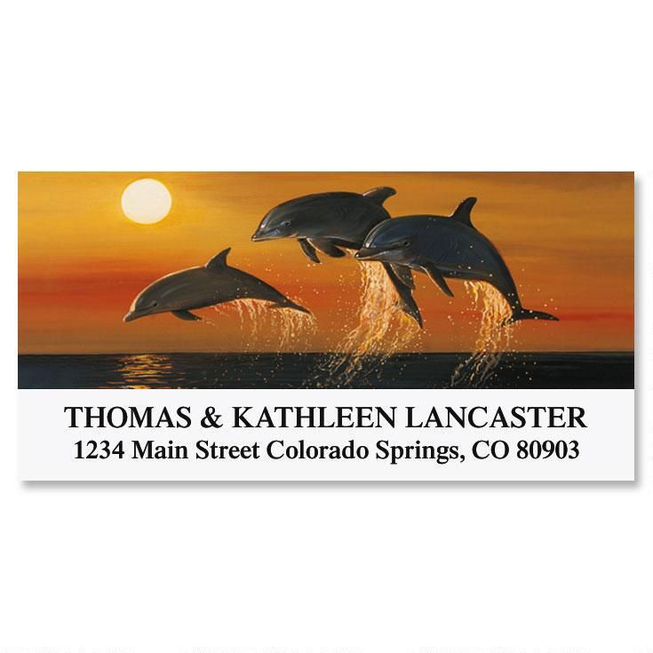 Ocean Serenity  Deluxe Address Labels