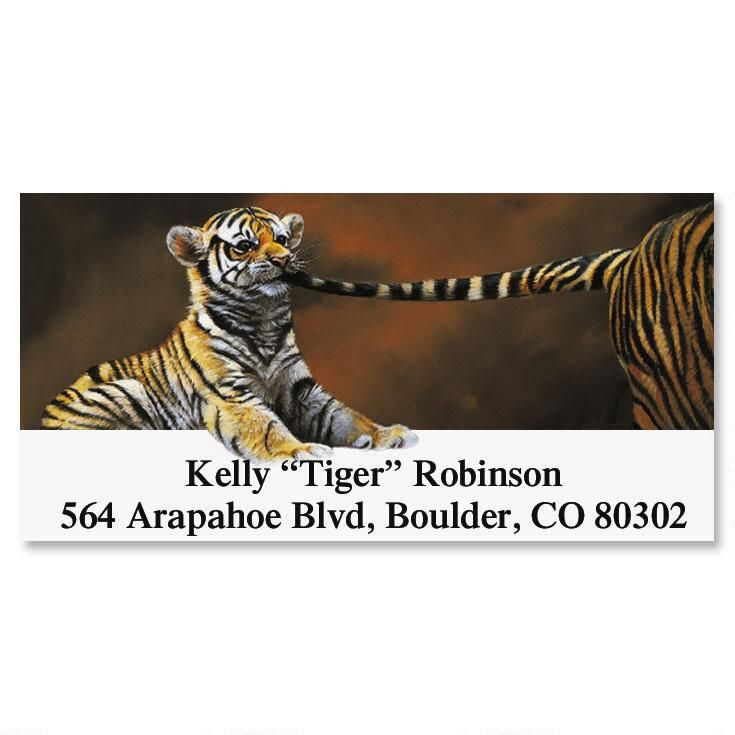 Tiger by the Tail  Deluxe Return Address Labels